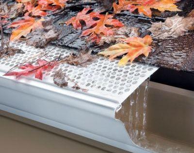 Mesh Gutter Guards Keeps Debris From Entering Your Gutter System Greatly Reducing The Need For Regular Cleaning Gutter Leaf Guard Leaf Guard Gutter