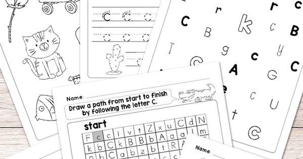free printable letter c worksheets alphabet worksheets series free printables for kids. Black Bedroom Furniture Sets. Home Design Ideas