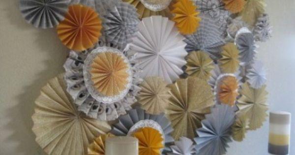 D co de f te 10 fa ons d utiliser les rosaces en papier - Comment utiliser les couverts a table ...