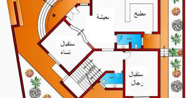 تصميم فيلا صالة نساء و صالة رجال مع حمام و معيشة مفتوحة على المطبخ وثلاث غرف ماستر من اعمال Art Ken Classic House Design Pool Designs Villa Plan