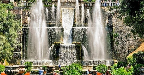 The Organ Fountains from the Fishponds at Villa dEste ~Tivoli, Italy