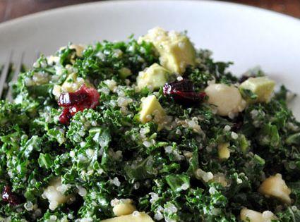Kale quinoa salad - superfood qualities and looks very tasty