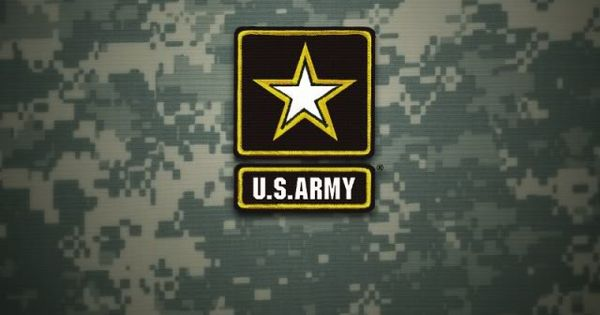 Us Army Iphone Wallpaper: US Army Logo On Green IPhone Wallpaper Background