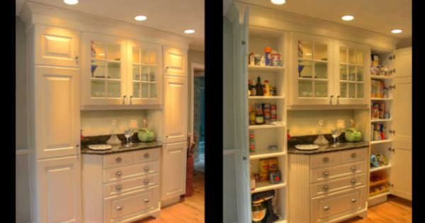 Kitchen Pantry Hutch Furniture Style Cabinets Act As A