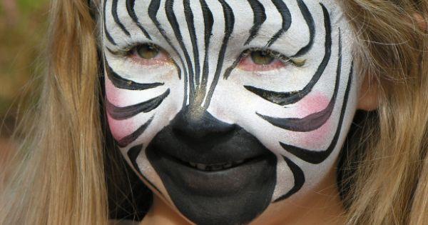 zebra face painting kinderschminken pinterest. Black Bedroom Furniture Sets. Home Design Ideas