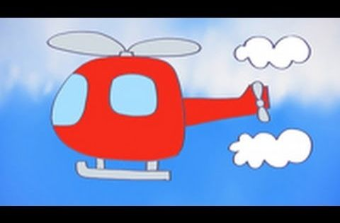 Dibujo De Un Helicoptero Para Dibujar Y Pintar Con Los Ninos Aprende A Dibujar Medios De Transporte Para Pintar Y Dec Transporte Preescolar Helicopteros Ninos