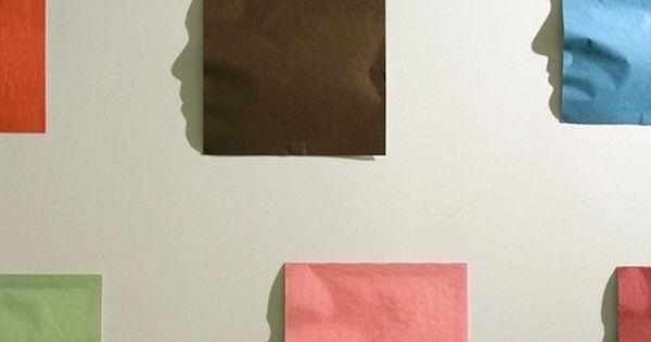 PAPER ART by shadow artist Kumi Yamashita (origami paper and a single