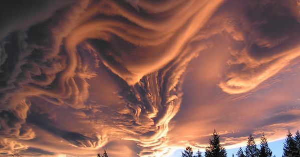 Cloud Formation Over New Zealand At Sunset.Undulatus asperatus. I want to go