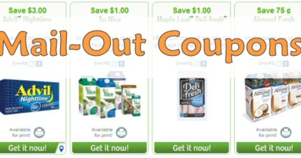 Coupons in canada by mail