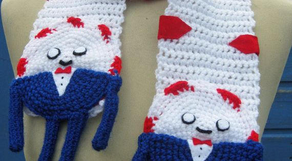 Amigurumi Beemo : Crochet Peppermint Butler from Adventure Time Scarf - Made ...