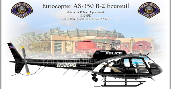 Eurocopter As 350 B 2 Ecureuil Anaheim Police Department N326pd Police Department Anaheim Law Enforcement