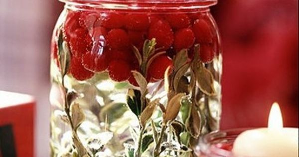 Pinterest Thanksgiving and Christmas Mason Jars