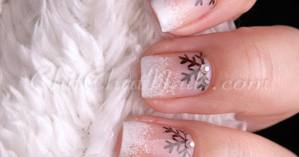 #Christmas nails Snowflake nails