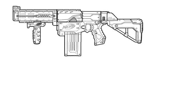 Nerf blaster outline templates