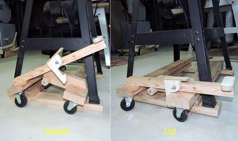 Retractable Casters For Shop Tools Verstak Derevoobrabotka