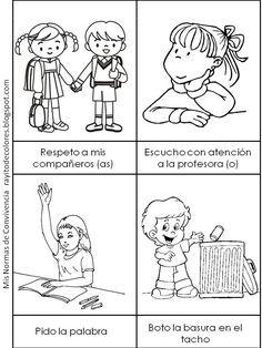 Normas De Convivencia En El Aula Dibujos Para Colorear Rayito Normas De Convivencia Imagenes De Convivencia Escolar Dibujos De Convivencia