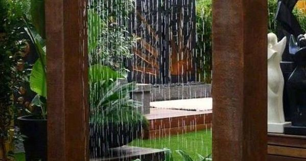 Corten Steel Rain Curtain Water I Hope My Garden Is As