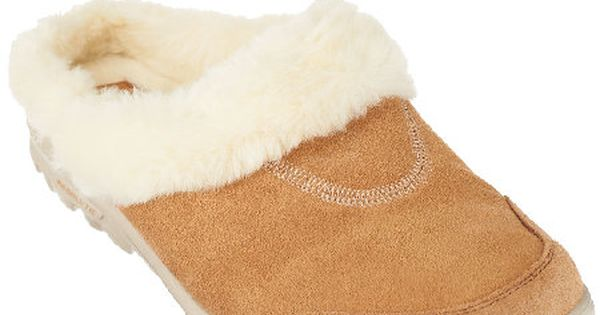 Skechers GOwalk Suede Clogs with Faux