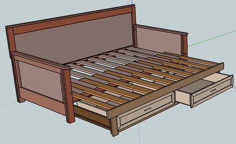 Pull Out Daybed Plans Diy Sofa Bed Diy Daybed Futon Bed Frames