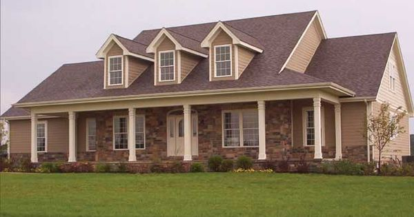 Lovely dormers and front porch give this country home a for House plans with dormers and front porch