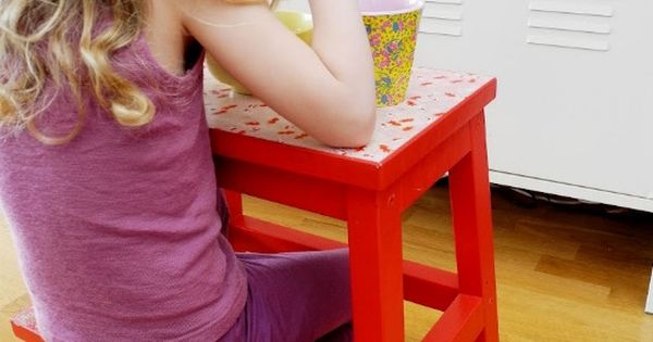 Ikea step stool > min table for kid