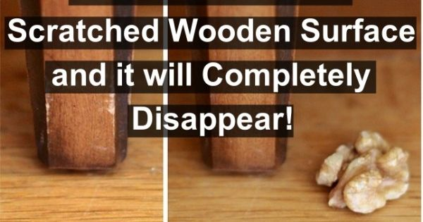 Fix Scratches On Wooden Furniture Or Floors 600x416 Top 20 Best Life Hacks Of All Time Ideas