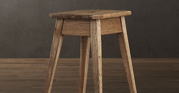 Oak Stool From Restoration Hardware Stools Pinterest