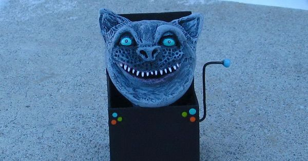 Alice In Wonderland Cheshire Cat In A Box Decoration Alice In