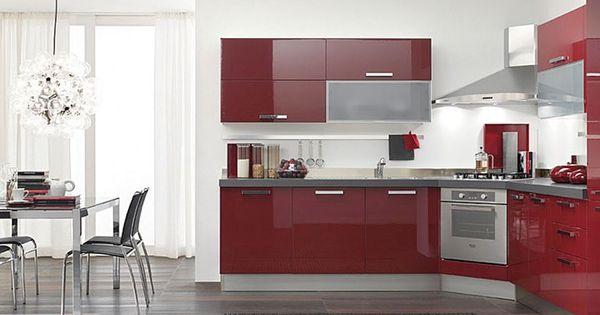 Cocinas dise o de cocinas en color rojo proyectos que for Diseno de cocina francesa