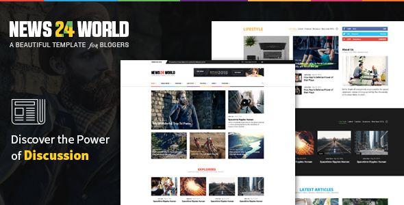 News24 World News Blog Magazine Template Magazine Theme Wordpress Magazine Template Wordpress Theme Responsive