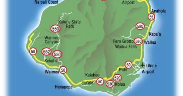 Map Of Kauai Hawaii Free Printable Maps Map Of Kauai