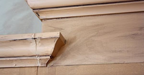 Adding crown molding and staggered cabinet trim for the for Kitchen cabinets crown molding installation instructions