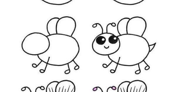 تعليم الطفل طريقة رسم بطة بالصور Drawing For Kids Cool Drawings Easy Heart Drawings