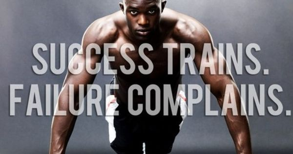 Success trains. Workout fitness motivation