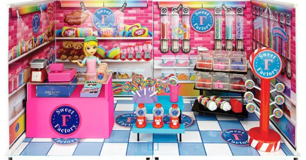 Mi World Deluxe Envrionment Set With Doll Sweet Factory