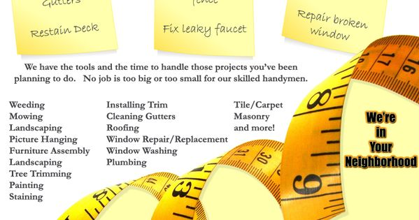 Handyman Ted Flyer From The Desktop Desktop Publishing