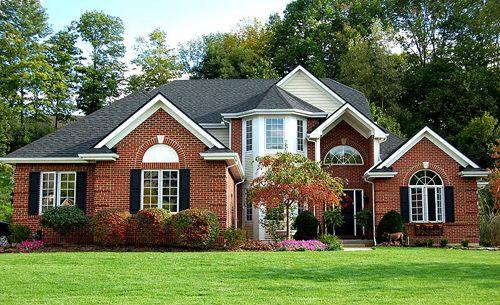 Pin By Latika On Dream Houses Orange Brick Houses Red Brick House Brick Exterior House