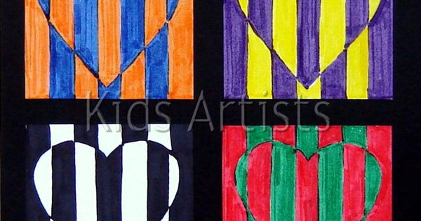 4-6 pop art lesson - color contrast - 1st or 2nd grade,