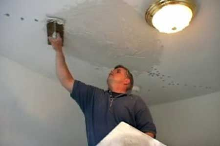 In This How To Video This Old House General Contractor Tom Silva Saves A Cracked Plaster Ceiling Plaster Repair Plaster Ceiling Repair Plaster Ceiling