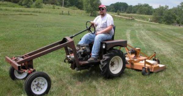 Home Built Articulating Garden Tractor : Home built garden tractor working with metal