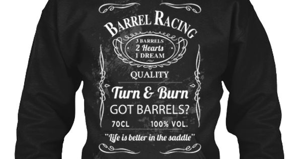 Jack Daniels version of barrel racing. I love it. It's so unique