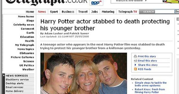 Robert Knox Jpg 455 324 Hi Brother Harry Potter Actors Tv News