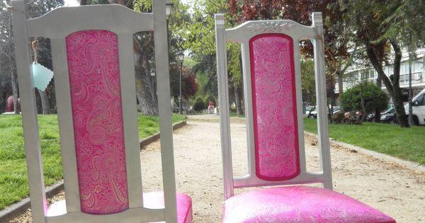 Espectaculares sillas antiguas restauradas en plata y con - Sillas restauradas ...