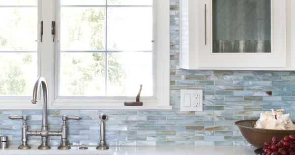 Glass Mosaic Backsplash Agate In Lucca Pearl By Lunada