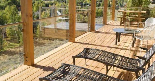 glas gel nder holz terrasse balken rustikal touch liegesessel gel nder pinterest. Black Bedroom Furniture Sets. Home Design Ideas