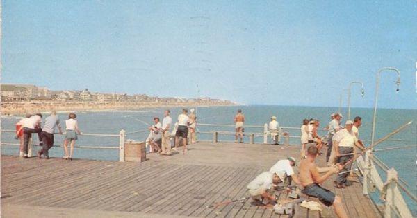 Retro ocean city maryland fishing pier vintage for Ocean city md fishing pier