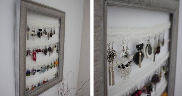 Diy faire un cadre porte bijoux blog envie bijoux - Comment fabriquer un porte bijoux ...