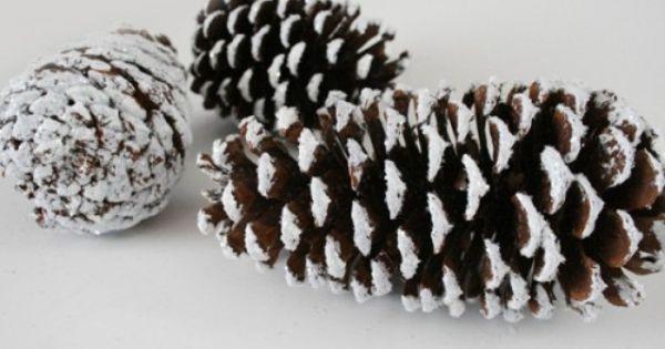 christmas pinecone decor