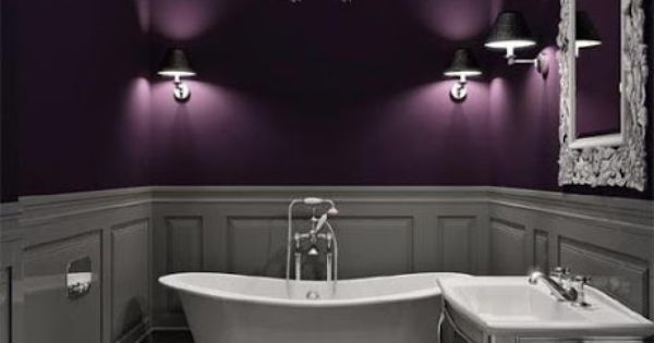 LOVE these purple walls color scheme