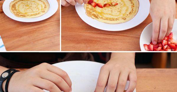 : strawberry and cream pancakes | Strawberries And Cream, Pancakes ...